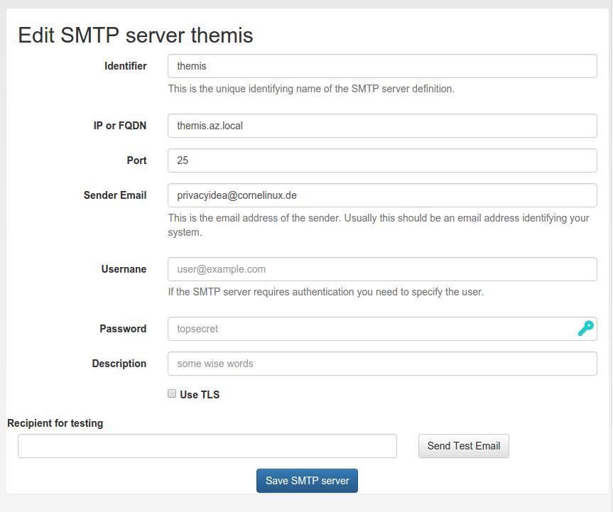 4 6  SMTP server configuration — privacyIDEA 3 0 2 documentation